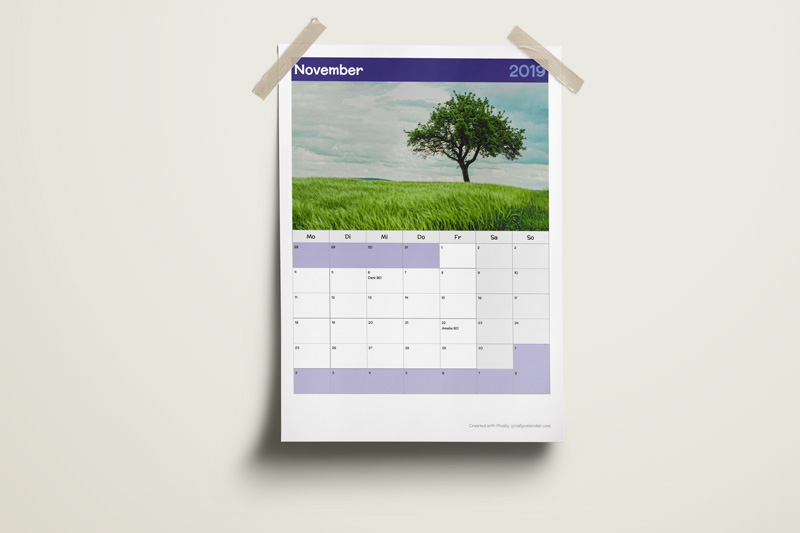 11 Printable Calendar Template Designs Picallycalendar